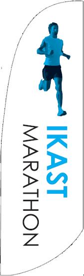 Ikast Marathon strandflag beachflag sponsorgave